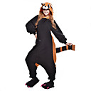 cheap Kigurumi Pajamas-Adults' Kigurumi Pajamas Raccoon Bear Onesie Pajamas Polar Fleece Black Cosplay For Men and Women Animal Sleepwear Cartoon Halloween Festival / Holiday