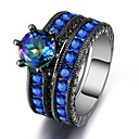 cheap Rings-Women's Cubic Zirconia Band Ring - Cubic Zirconia 6 / 7 / 8 Royal Blue For Wedding / Evening Party