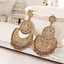 זול עגילים אופנתיים-בגדי ריקוד נשים עגילי טיפה - הצהרה, וינטאג' זהב עבור מסיבת ערב שלב