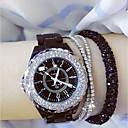 abordables Relojes de Moda-Mujer Reloj de Pulsera Japonés Reloj Casual Cerámica Banda Encanto Negro / Blanco / Acero Inoxidable
