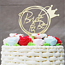 billige Kakedekorasjoner-Kakepynt Bryllup Akryl Brude Plast Bryllup med 1 OPP