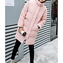 povoljno Modne naušnice-Žene Jednobojni Dug Padded, Pamuk Dugih rukava Crn / Blushing Pink / Bež L / XL / XXL