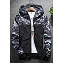 cheap Men's Oxfords-Men's Active Plus Size Jacket - Camouflage, Classic Style Hooded