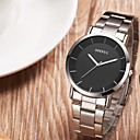 cheap Luxury Watches-SMAEL Men's Quartz Wrist Watch Chinese Large Dial Stainless Steel Band Luxury Casual Minimalist Fashion Black Brown