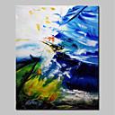 tanie Obrazy: motyw roślinny/botaniczny-Hang-Malowane obraz olejny Ręcznie malowane - Streszczenie Prosty Nowoczesny Brezentowy