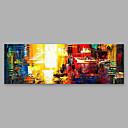 tanie Przybory kuchenne-Hang-Malowane obraz olejny Ręcznie malowane - Streszczenie Nowoczesny Brezentowy / Walcowane płótno