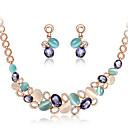 tanie Zestawy biżuterii-Damskie Cyrkonia Geometric Shape Biżuteria Ustaw - Słodkie, Elegancja Zawierać Złoty Na Prezent Party Wieczór