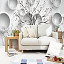 tanie Fresk-Geometryczny Liście drzew / 3D Dekoracja domowa Współczesny קלאסי Rustykalny Tapetowanie, Brezentowy Materiał klej wymagane Fresk, Pokój