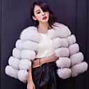 cheap Wedding Wraps-Long Sleeve Faux Fur Wedding / Party / Evening Women's Wrap With Coats / Jackets