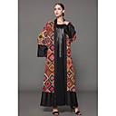 رخيصةأون أغطية مخدات-طويل للأرض طباعة, هندسي - فستان جلابية قياس كبير معقد للمرأة