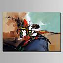 tanie Obrazy: motyw roślinny/botaniczny-Hang-Malowane obraz olejny Ręcznie malowane - Streszczenie Prosty Brezentowy / Rozciągnięte płótno