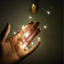 tanie Zestawy biżuterii-2 m Łańcuchy świetlne 20 Diody LED SMD 0603 Ciepła biel <5 V 1 szt. / IP65