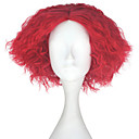 voordelige Synthetische kaploze pruiken-Synthetische pruiken Kinky Curly Synthetisch haar Rood Pruik Heren Kort Zonder kap