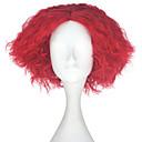 povoljno Pametna kuća-Sintetičke perike Kinky Curly Stil Capless Perika Crvena Sintentička kosa Muškarci Crvena Perika Kratko miss u hair