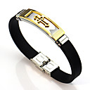 cheap Men's Bracelets-Link Bracelet - Leather, Stainless Cross Asian, Vintage Bracelet Gold / Silver For Wedding