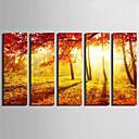cheap Artificial Flower-Landscape Classic, Five Panels Canvas Vertical Print Wall Decor Home Decoration