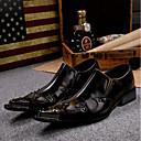 halpa Miesten Oxford-kengät-Miesten Uutuushahmot Nahka Kevät / Kesä Vintage / Comfort Oxford-kengät Ruskea / Häät / Juhlat