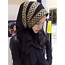 tanie Modne kolczyki-Damskie Hidżab - Jedwab wiskozowy, Kolorowy blok
