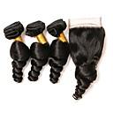 cheap One Pack Hair-4 Bundles Indian Hair Loose Wave Remy Human Hair Natural Color Hair Weaves Human Hair Weaves Human Hair Extensions