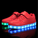 cheap Boys' Shoes-Boys' Shoes Customized Materials / Leatherette Fall / Winter Comfort / Light Up Shoes Sneakers Lace-up / Magic Tape / LED for Red / Blue