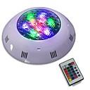 billige Kornpærer med LED-JIAWEN 1pc 9 W Undervannslys Fjernstyrt RGB 12-24 V Utendørsbelysning 9 LED perler