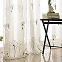 baratos Cortinas-Amiga-do-Ambiente Sheer Curtains Shades Interior 2*(W183cm×L213cm) / Bordado / Quarto
