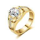 זול טבעות-בגדי ריקוד גברים טבעת הטבעת - וינטאג', אלגנטית 8 / 9 / 10 זהב / כסף עבור חתונה / Party