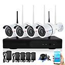 tanie Systemy CCTV bezprzewodowe-YanSe H.264 4 kalały 1080P (1920*1080)(Ręczny / Alarm uruchomiony)