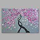 baratos Pinturas Florais/Botânicas-Pintura a Óleo Pintados à mão - Floral / Botânico Modern Tela de pintura / Lona esticada