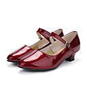 cheap Latin Shoes-Women's Modern Shoes Patent Leather Sneaker Customized Heel Customizable Dance Shoes Red / Performance