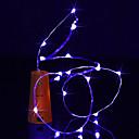 tanie Żarówki Punktowe LED-BRELONG® 1m Łańsuchy świetlne 10 Diody LED Ciepła biel / Biały / Niebieski Wodoodporne <5 V 1szt