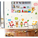 cheap Wall Stickers-Christmas Decorations Wall Stickers Plane Wall Stickers Decorative Wall Stickers, Vinyl Home Decoration Wall Decal Wall Window
