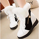 baratos Fechamento & Frontal-Mulheres Sapatos Courino Inverno Botas de Neve Botas Botas Curtas / Ankle Branco / Preto