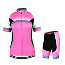 cheap Cycling Jersey & Shorts / Pants Sets-Arsuxeo Women's Short Sleeve Cycling Jersey with Shorts - Red Bike Clothing Suit, Breathable, Quick Dry, Anatomic Design Polyester Solid Color / Stretchy