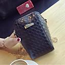 cheap Shoulder Bags-Women's Bags PU Crossbody Bag Zipper Black / Silver / Red