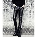 זול מגפיים לגברים-בגדי ריקוד גברים פאנק & גותיות סקיני צ'ינו מכנסיים אחיד