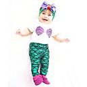 preiswerte Kostüme für Erwachsene-Die kleine Meerjungfrau Kostüm Kinder Austattungen Weihnachten Maskerade Fest / Feiertage Halloween Kostüme Austattungen Grün Einfarbig bezaubernd