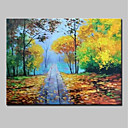 cheap Prints-Oil Painting Hand Painted - Landscape Modern Rolled Canvas