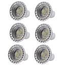 billige Kornpærer med LED-6pcs 5W 400lm GU10 LED-spotpærer 1 LED perler COB Mulighet for demping LED Lys Varm hvit Kjølig hvit 110-130V 220-240V