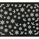 preiswerte Weihnachten Nagel Kunst-1 pcs 3D Nails Nagelaufkleber Nagel Kunst Maniküre Pediküre lieblich Abstrakt / Modisch Alltag / 3D Nagel Sticker