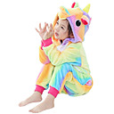 cheap Kigurumi Pajamas-Kid's Kigurumi Pajamas Unicorn Flying Horse Onesie Pajamas Flannel Fabric Yellow Cosplay For Boys and Girls Animal Sleepwear Cartoon Festival / Holiday Costumes