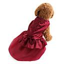 preiswerte Hundekleidung-Hund Kleider Hundekleidung Solide Pailletten Rot Blau Terylen Kostüm Für Haustiere Damen Urlaub Modisch Hochzeit