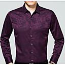 זול סניקרס לגברים-רזה סגנון רחוב חולצה - בגדי ריקוד גברים דפוס / שרוול ארוך
