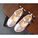 olcso Kislány cipők-Lány Cipő Bőrutánzat Tavasz Kényelmes / Katonai csizmák / Virágoslány cipők Lapos Gyalogló Csat mert Arany / Ezüst / Rózsaszín