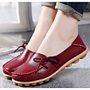 cheap Women's Slip-Ons & Loafers-Women's Shoes Nappa Leather Spring Fall Comfort Ballerina Loafers & Slip-Ons Flat Heel Round Toe for Casual Black Beige Coffee Red Wine