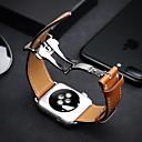 preiswerte Smart Uhr Accessoires-Uhrenarmband für Apple Watch Series 3 / 2 / 1 Apple Schmetterling Schnalle Echtes Leder Handschlaufe