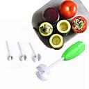 baratos Artigos de Forno-4 pcs set vegetal spiralizer dispositivo de escavação corer ferramentas de cozinha vegedrill