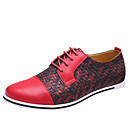 cheap Men's Oxfords-Men's Novelty Shoes Microfiber Spring / Fall Casual Oxfords Yellow / Red / Blue