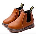 abordables Zapatos de Niña-Chica Zapatos Semicuero Invierno Confort / Botas de Combate Botas Paseo Con Cordón para Negro / Gris / Marrón / Botines / Hasta el Tobillo