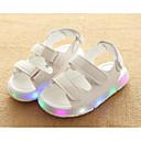 זול נעלי ילדות-בנות נעליים דמוי עור סתיו / חורף נוחות סנדלים הליכה סקוטש ל שחור / צהוב / ורוד